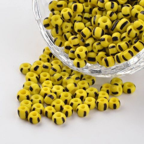 Seed Beads - 6/0 - Yellow Opaque - 50g
